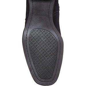 Bandolino Shoes - BANDOLINO Ollia Black Suede Leather Heeled Boots